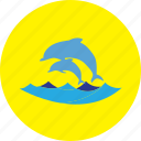 animal, beach, dolphin, fish, holiday, ocean, sea icon