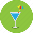 beach, cocktail, drink, glass, holiday, juice icon