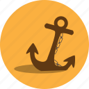 anchor, beach, boat, holiday, tool, travel, vacation icon