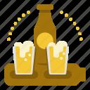 beer, drink, paddle, set