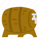 barrel, beer, tank, wooden icon