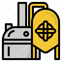 factory, beer, brew, manufacturing, brewery, fermentation icon