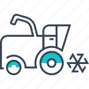 machinery, harvester, agricultural, harvesting, transport icon