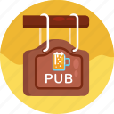 pub label, pub, bar, beer