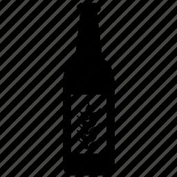 alcoholic, barley, beer, beverage, bottle, drink, glass icon