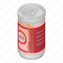 aluminum, beer, blank, can, cartoon, isometric, tin