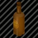 alcohol, ale, beer, bottle, cartoon, closeup, isometric