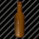 alcohol, beer, bottle, cartoon, glass, isometric, white