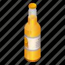 beer, bottle, cartoon, cold, isometric, light, white