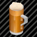 alcohol, bar, beer, beverage, cartoon, isometric, mug
