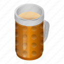 alcohol, bar, beer, cartoon, glass, isometric, mug