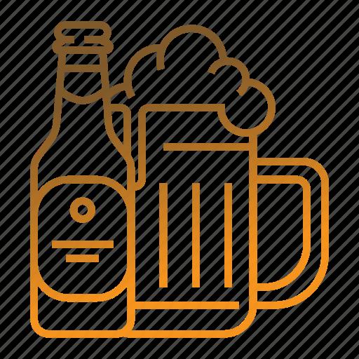 bar, beer, beer bottle, beer mug, glass beer icon