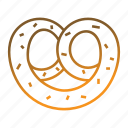 bakery, bakery food, bread, breakfast, pretzel icon