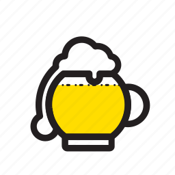 beer, cheers, chill, drink, glass, pot icon