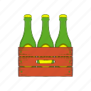 beer, blank, bottle, box, cartoon, case, wood icon