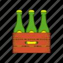 beer, blank, bottle, box, cartoon, case, wood