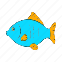 animal, blue, cartoon, fish, food, seafood, wildlife icon