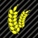 agriculture, barley, cartoon, food, plant, ripe, stalk icon