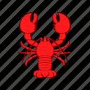 cancer, cartoon, crayfish, food, lobster, red, seafood
