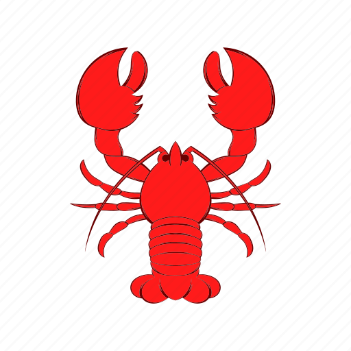 cancer, cartoon, crayfish, food, lobster, red, seafood icon