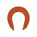 barbecue, cartoon, food, fresh, grilled, meat, sausage icon