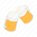 alcohol, beer, bubble, drink, glass, isometric, mug icon