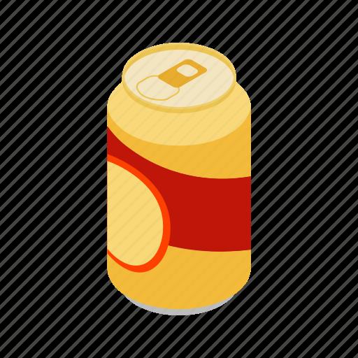 aluminum, beverage, can, cold, isometric, liquid, metal icon