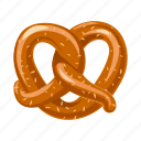 bread, cracker, food, pretzel icon