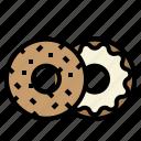 bagel, baker, bakery, bite icon