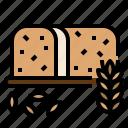 bakery, bread, wheat icon