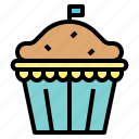 apple, banana, muffin, pie icon
