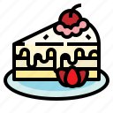 berry, cake, candy, with icon
