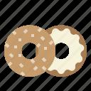 bagel, baker, bakery, bite