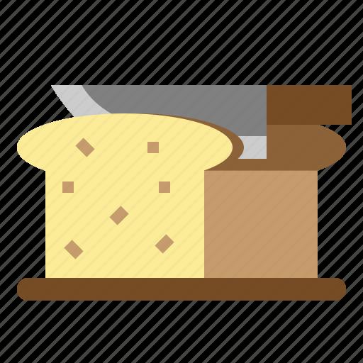 bread, breakfast, slice, toast icon