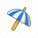beach, umbrella, summer