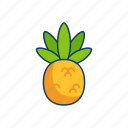 pineapple, tropical, fruit, summer