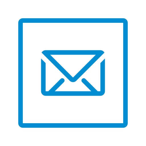envelope, letter, mail, message, send, share, square icon