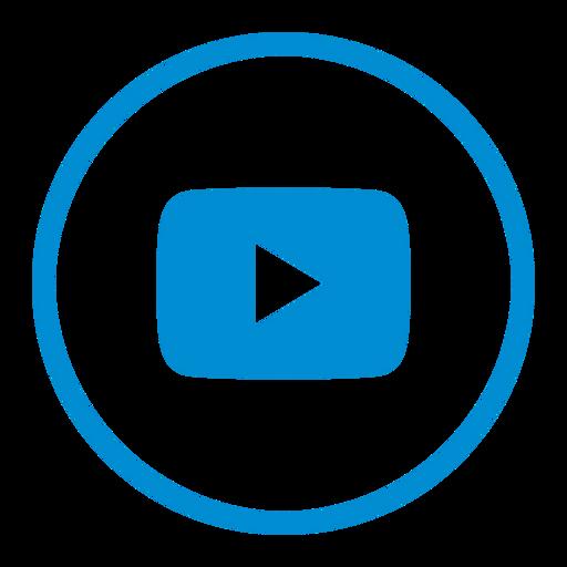 circle, google, media, multimedia, social, video, youtube icon
