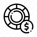 betting, racing, wheel icon