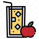 apple, food, fresh, healthy, juice, refreshment, restaurant icon