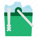 box, bucket, cubes, ice, restaurant, tools, utensils icon