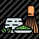 matcha, green, tea, drink, beverage, japan, japanese icon