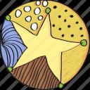 decoration, drawn, hand, retro, star, vintage icon