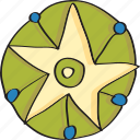 decoaration, retro, star, vintage icon