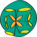 decoration, drawn, green, hand, leafs, plant icon