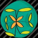 plant, hand, decoration, green, leafs, drawn icon