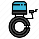 accessories, bell, bicycle, bike, equipment icon