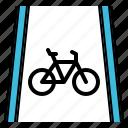 bicycle, bike, lane, road, way icon