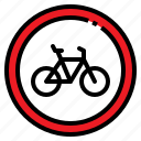 bicycle, bike, sign, transportation, warning icon