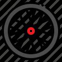 bicycle, bike, deep, rim, wheel icon